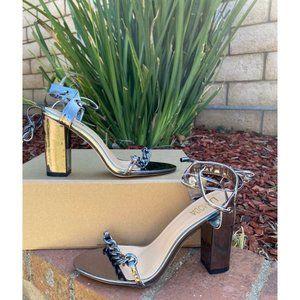 ASOS La Moda Metallic Chain Heel SZ 7 women
